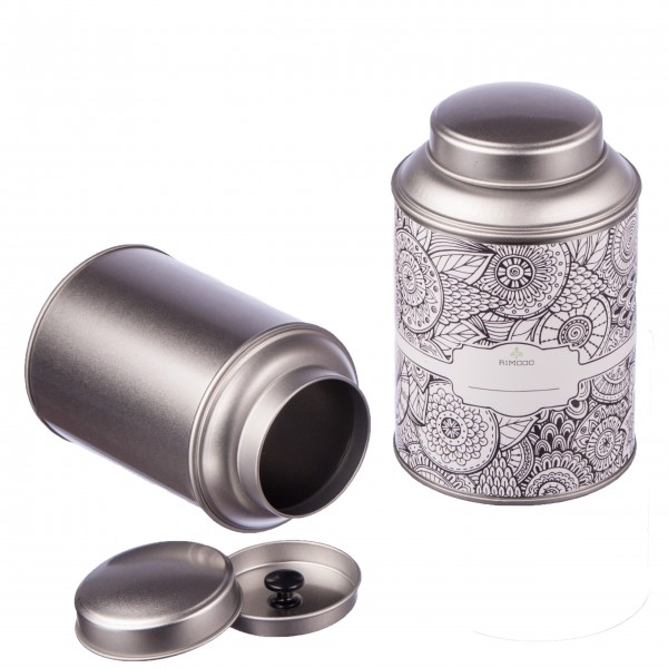 Teedosen mit extra Aromadeckel inkl. Etiketten
